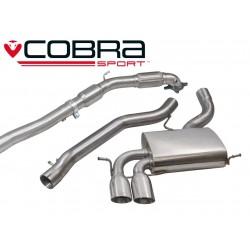 Turbo-Back / Echappement après Turbo avec Cata sport et sans Résonateur Cobra Sport AU09b Audi S3 8P 2006-2014