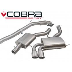 Turbo-Back / Echappement après Turbo avec Décata et Résonateur Cobra Sport AU09c Audi S3 8P 2006-2014