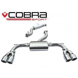 Cat-Back / Echappement après catalyseur avec Résonateur Cobra Sport AU53 Audi S3 8V 2014-2017