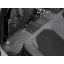 Tapis de sol WeatherTech FloorLiner 4410462 Noir 2erangée (tapis en 2parties) Alfa Romeo Giulia Quadrifoglio 2016-2019