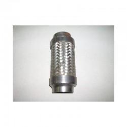 Flexible Inox d'échappement sur mesure à souder de longueur 250mm à 400mm et diamètre extérieur de 51mm à 73mm