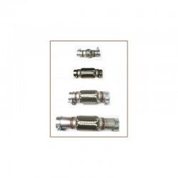 Flexible Inox d'échappement sur mesure à colliers de longueur 140mm à 249mm et diamètre extérieur de 51mm à 73mm