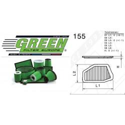 Filtre à air Green P960157 ACURA CL 2.2L L4 1997