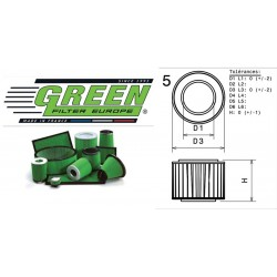 Filtre à air Green R457398 ALFA ROMEO SPIDER (916S) 2.0L i 16V Twin Spark 98-00