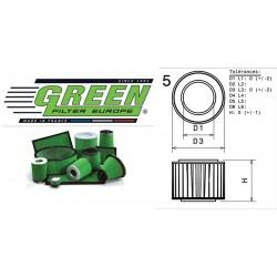 Filtre à air Green R502398 ALFA ROMEO SPIDER (916S) 3.0L i V6 24V 10/00-06/03