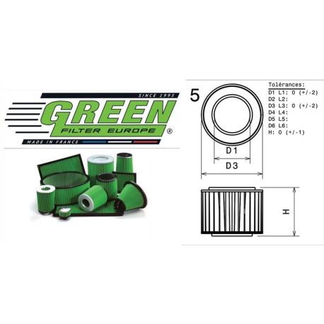 Filtre à air Green R502398 ALFA ROMEO SPIDER (916S) 3.0L i V6 24V 01/99-10/00