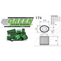 Filtre à air Green G591022 ALFA ROMEO 159 SPORTWAGON 3.2L i V6 24V JTS 05-