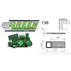Filtre à air Green P950458 ALFA ROMEO MITO 1.3L JTDM 16V (EURO 5) 11/09-