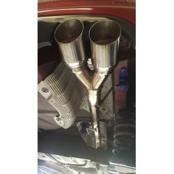 Silencieux-Tube d'échappement Inoxcar Sorties X-Race 2x80mm pour Peugeot 208 GTI 1.6L 200cv (2013 - ...) - PE208.01.XR80-Tube