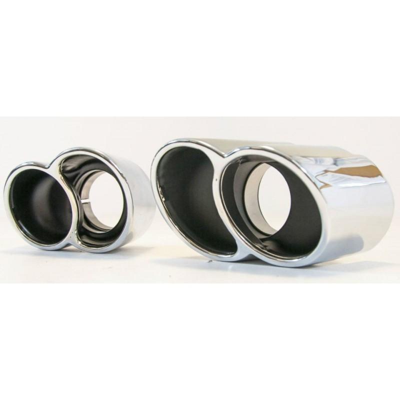 paire de double sorties d 39 chappement en inox pour porsche 911 996 carrera kc motors. Black Bedroom Furniture Sets. Home Design Ideas
