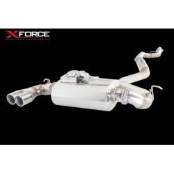 Système d'échappement XForce ES-BF20-125-VMK-CBS BMW 125i 2011-2014