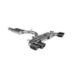 Cat-back / Echappement après catalyseur avec résonateur avec valve Scorpion SAU093CF Audi S3 8Y Sportback 2020-2021
