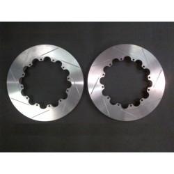 Paire de disques de freins rainurés 343mm x 28mm pour Bols Alu pour Renault Mégane 3 RS - Reyl-discs-Meg-3-RS
