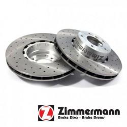 Disque Avant Ventilé Zimmermann percé Z100-3300-52 Volkswagen Tiguan 9.07-