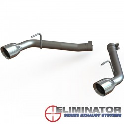 Axle-Back / Silencieux-Tube d'échappement QTP Eliminator - Chevrolet Camaro 6.2L V8 2010 - 2013