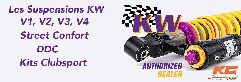 Les amortisseurs et kits combinés filetés KW - KC-Motors
