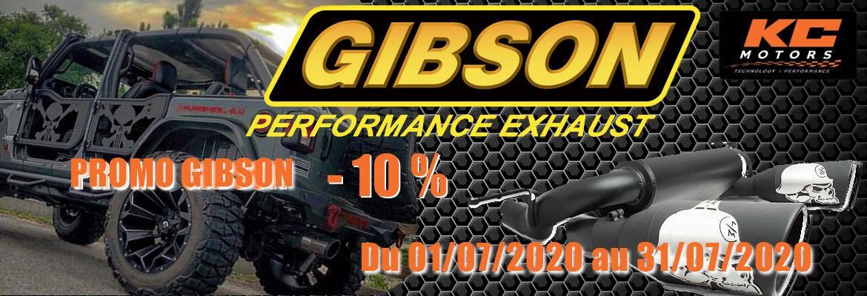 Echappements Gibson KC-Motors - Promo 10 % juillet 2020